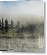 Morning Fog On The Yellowstone Metal Print