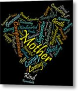 Mother In 100 Words Metal Print by Mitchell Nick