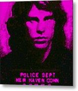 Mugshot Jim Morrison M88 Metal Print by Wingsdomain Art and Photography
