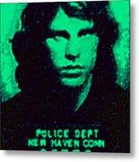 Mugshot Jim Morrison P128 Metal Print by Wingsdomain Art and Photography