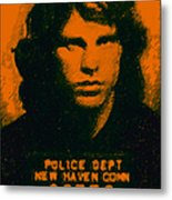Mugshot Jim Morrison Metal Print by Wingsdomain Art and Photography