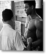Muhammad Ali Coming Out Of Dressing Room Metal Print