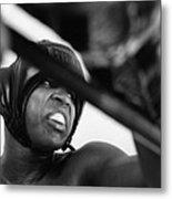 Muhammad Ali Looking Sideway Through Rope Metal Print