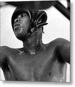 Muhammad Ali Looking Through Ropes Metal Print by Retro Images Archive