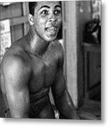 Muhammad Ali Sitting And Talking Metal Print