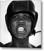 Muhammad Ali Teeth Gritted Metal Print
