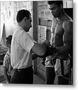 Muhammad Ali With Trainer Metal Print