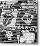 Music Street Art Metal Print by Luciano Mortula