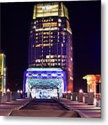 Nashville Sight Night Skyline Pinnacle Panorama Color Metal Print