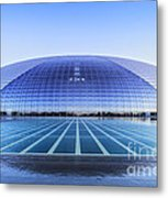 National Centre For The Performing Arts Beijing China Sunset Metal Print by Colin and Linda McKie