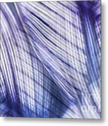 Nature Leaves Abstract In Blue And Purple Metal Print