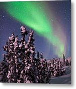Nature's Canvas In The Northern Sky Metal Print by Mike Berenson