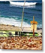 Neighborhood Between City Wall And Ocean Metal Print