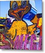 Neon Duck Metal Print by Garry Gay