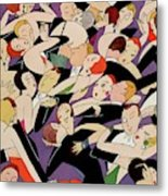 New Years Revelers Metal Print by A. H. Fish