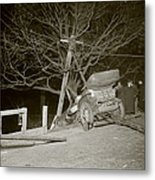 New York City, Auto Wreck In Central Metal Print