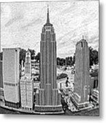 New York City Skyline - Lego Metal Print by Edward Fielding