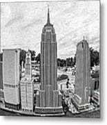New York City Skyline - Lego Metal Print