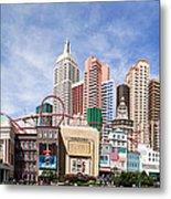 New York New York Las Vegas Metal Print