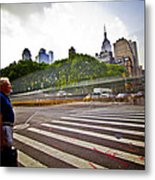 New York - Waiting... Metal Print by Amador Esquiu Marques