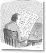 New Yorker October 25th, 1993 Metal Print