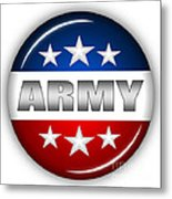 Nice Army Shield Metal Print by Pamela Johnson