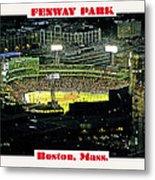 Night Baseball Fenway Park Boston Massachusetts Metal Print