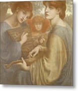 No. 1011 Study For The Bower Meadow Metal Print by Dante Gabriel Charles Rossetti