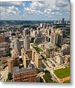 Oakland Pitt Campus With City Of Pittsburgh In The Distance Metal Print