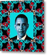 Obama Abstract Window 20130202m180 Metal Print