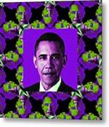 Obama Abstract Window 20130202m88 Metal Print