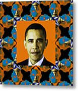 Obama Abstract Window 20130202p28 Metal Print by Wingsdomain Art and Photography