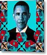 Obama Abstract Window 20130202verticalm180 Metal Print by Wingsdomain Art and Photography