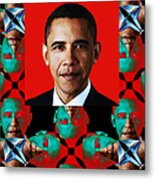 Obama Abstract Window 20130202verticalp0 Metal Print