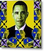 Obama Abstract Window 20130202verticalp55 Metal Print