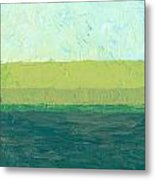 Ocean Blue And Green Metal Print by Michelle Calkins