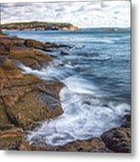 Ocean On The Rocks Metal Print