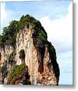 Ocean Wall- Phi Phi Island - Krabi Thailand- Viator's Agonism Metal Print