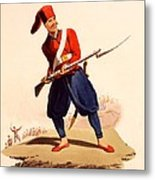 Officer Of European Infantry Of Ottoman Metal Print by Thomas Charles Wageman