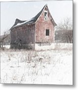 Old Barn - Brokeback Shack Metal Print by Gary Heller