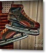 Old Hockey Skates Metal Print by Paul Ward