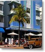 Old Miami Metal Print