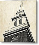 Old North Church In Boston Metal Print