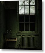 Old Room - Abandoned Asylum - The Presence Outside Metal Print by Gary Heller