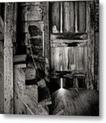 Old Room - Rustic - Inside The Windmill Metal Print by Gary Heller