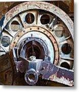 Old Rusty Vintage Industrial Machinery Metal Print