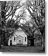 Old School House In The Woods Metal Print by Thomas J Rhodes