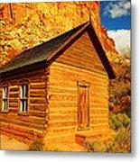 Old Schoolhouse Near Capital Reef Utah Metal Print by Jeff Swan