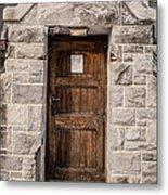 Old Stone Church Door Metal Print