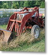 Old Tractor Metal Print by Jennifer Ancker